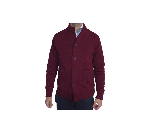 Cardigan Collo Alto Bordeaux