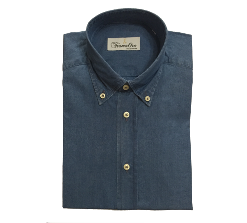 Camicia Jeans Modello Botton Down