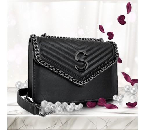 LUXURY BAG 02 INIZIALE BLACK