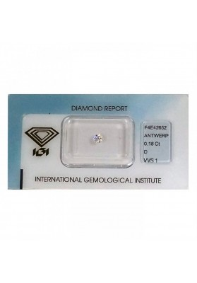 Diamante CERT. IGI CT. 0.18 D VVS1