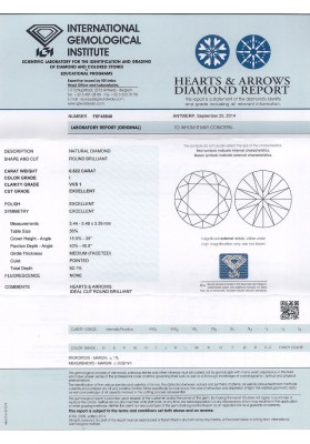 Diamante CERT. IGI CT. 0.62 I VVS1