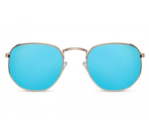 OCCHIALE DA SOLE RETRO' BLU GOLD