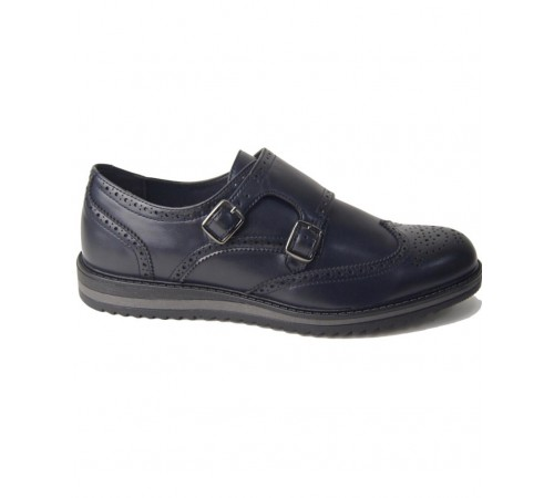 Sneakers doble monk  in Vitello blu